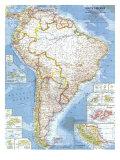 1960 South America Map