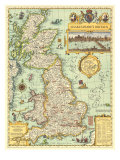 1964 Shakespeares Britain Map