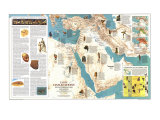 1978 Early Civilizations in the Middle East Map