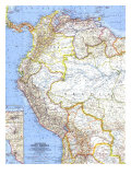 Northwestern South America Map 1964