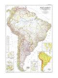 1950 South America Map