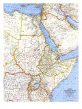 1963 Africa  Countries of the Nile Map