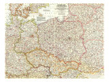 1958 Poland and Czechoslovakia Map
