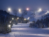 Lighting over the Mt Hood Skibowl night skiing area