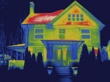 Thermal Image of a Residence in New Haven