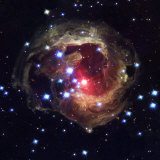 Radiation from a stellar burst ricochets off dust particles