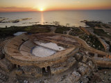 Caesarea's amphitheater hugs the Mediterranean Coast