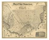 Map of San Francisco  c1852