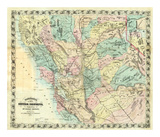 New Map of Central California  c1871