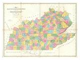 Map of Kentucky and Tennessee  c1839