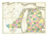 Map of Michigan and Part of Wisconsin Territory  c1839