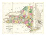 Map of New York  c1839