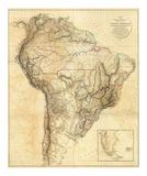 South America, c.1814 Reproduction d'art par Aaron Arrowsmith