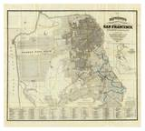 Official Guide Map of City and County of San Francisco  c1873