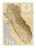 Map of The San Joaquin  Sacramento and Tulare Valleys  c1873