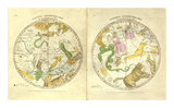 Circumpolar Map for each Month of the Year  c1835