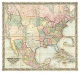 Map of The United States of America  c1848