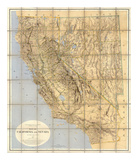 Map of California and Nevada  c1874