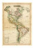 America, c.1820 Reproduction d'art par John Melish