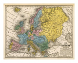 Map of Europe  c1839
