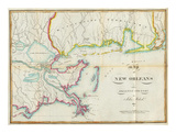 Map of New Orleans and Adjacent Country  c1815