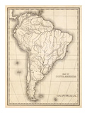 Map of South America  c1839