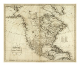 Map of North America  c1796
