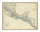 Amérique Centrale, Sud du Mexique, 1842 Reproduction d'art