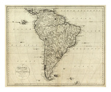 Map of South America  c1796