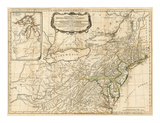 General Map of the Middle British Colonies  in America  c1776