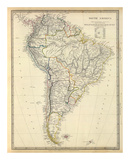 South America, c.1842 Reproduction d'art