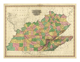 Kentucky  Tennessee and Part of Illinois  c1823