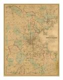 Map of Boston  c1860