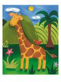 Gerry la girafe Giclée premium par Sophie Harding