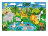 Les animaux de la jungle Giclée premium par Sophie Harding