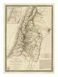 Palestine sous la Domination Romaine, c.1828 Reproduction d'art par Adrien Hubert Brue