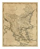 Turkey in Europe, c.1812 Reproduction d'art par Aaron Arrowsmith
