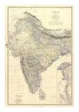 Composite: India, c.1861 Reproduction d'art par Alexander Keith Johnston