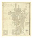 Map of Milwaukee  c1856