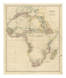 Africa, c.1834 Reproduction d'art par John Arrowsmith