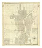 Map of Milwaukee  c1856