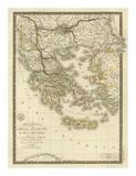 Grece Ancienne et de la Mer Egee  c1827