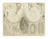 General Map of the World  or Terraqueous Globe  c1787