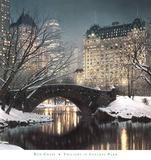 Crépuscule à Central Park Reproduction d'art par Rod Chase