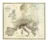 Mountains of Europe  c1854