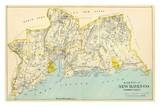 Connecticut: New Haven County South  c1893