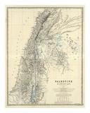 Palestine, c.1861 Reproduction d'art par Alexander Keith Johnston