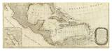 New Map of North America  with the West India Islands (Southern section)  c1786