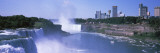 Waterfall with City Skyline in the Background  Niagara Falls  Ontario  Canada