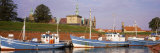 Kronborg Castle with Fishing Boats  Helsingor  Denmark